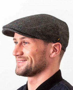 Hatman Dubliner Charcoal Flat Cap