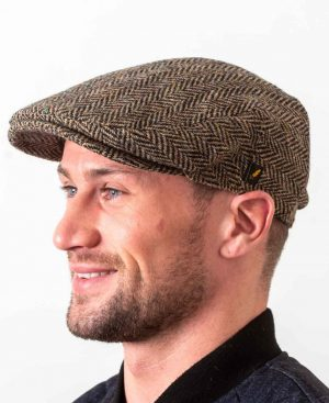 Hatman Dubliner Beige Flat Cap