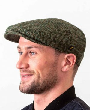Dubliner Green Herringbone Cap