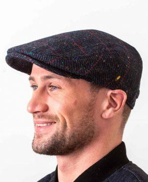 Dubliner Navy Check Cap