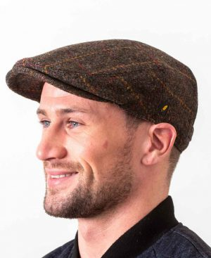 Dubliner Brown Check Cap