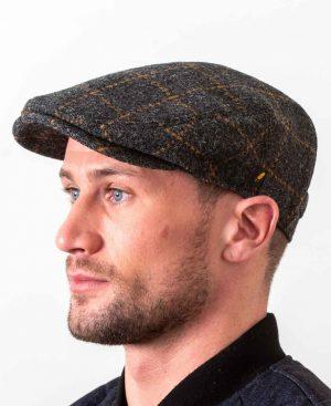 Dubliner Charcoal Check Cap