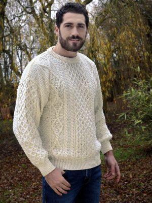 Inis Mor Aran Crew Neck Sweater