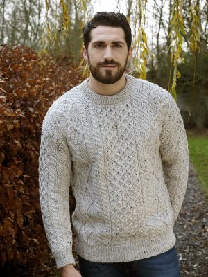 Aran Crew Neck Skiddaw Sweater