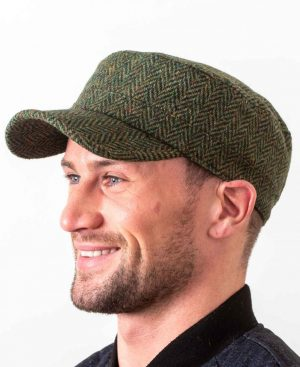Donegal Tweed Green Cadet Cap