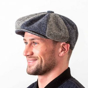 Gatsby Flat Cap Blue & Grey
