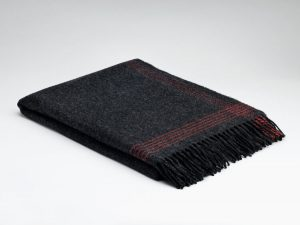McNutt Cashmere Charcoal Paradise Throw
