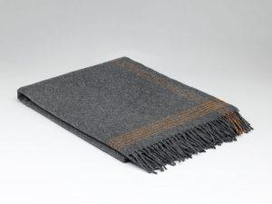 McNutt Cashmere Steel Orange Blanket