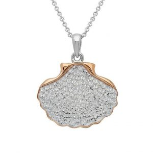 Shell Necklace Encrusted With White Swarovski® Crystal