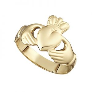 Solvar Gents 14K Gold Claddagh Ring