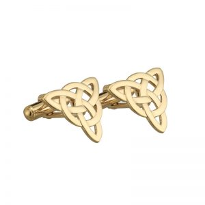 Gold Plated Celtic Knot Cufflinks
