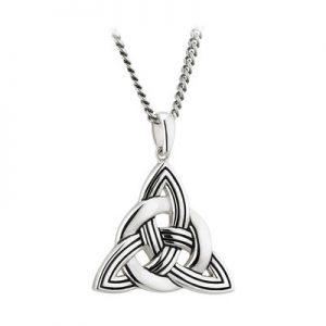 Gents Silver Large Celtic Knot Pendant