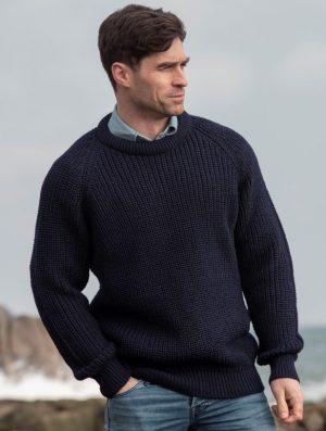The Fisherman Rib Crew Neck Sweater