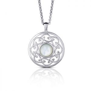 Arian Mother of Pearl Large Celtic Knot Pendant
