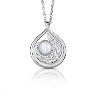 Mother of Pearl Arian Large Teardrop Pendant
