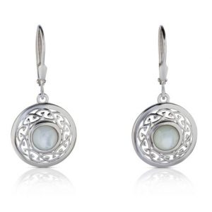 Mother of Pearl Arian Celtic Knot Earrings