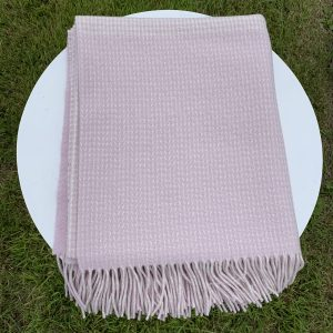 Foxford Pink Cashmere Throw