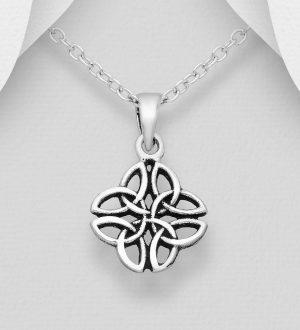 Sterling Silver Oxidised Trinity Pendant