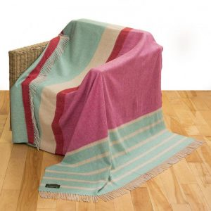 John Hanly Large Pink Mint Blanket