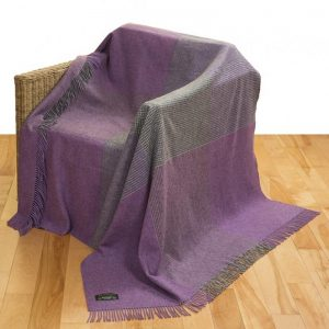 John Hanly Large Heather Grey Block Blanket