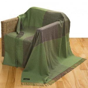John Hanly Large Green Gray Blanket