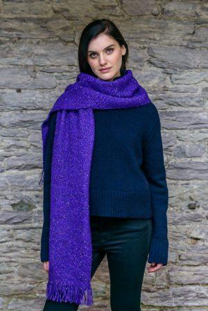 Mucros Purple Alpaca Kells Irish Scarf