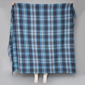 Foxford Blue Navy Lambswool Throw