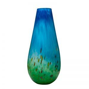 Handmade Irish Glass Horizon Tall Vase