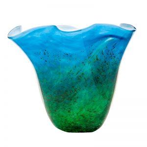 Handmade Irish Glass Horizon Centrepiece Vase