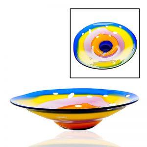 Handmade Irish Glass Kingsmeadow Centrepiece Bowl
