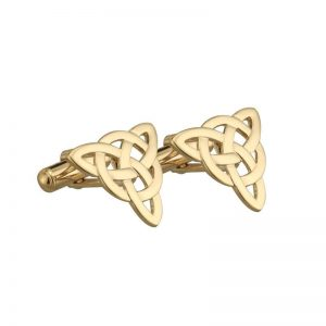 Solvar Gold Plated Celtic Knot Cufflinks S6429
