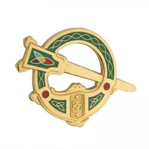 Solvar Gold Plated Green Tara Brooch TG1038GN