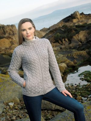 Aran Crafts Chunky Cable Cardigan
