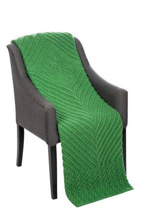 Irish Wool Throw with Shamrock Design