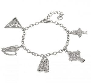 Irish Dancing Silver Charm Bracelet