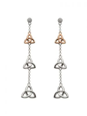 House of Lor Trinity Knot Drop Earrings H30046