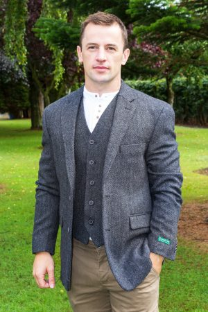 Tweed Herringbone Sports Coat
