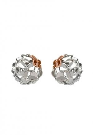 House of Lor Diamond Set 9ct White Gold Shamrock Stud Earrings H30079