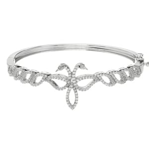 Children of Lir Silver Contemporary Bangle