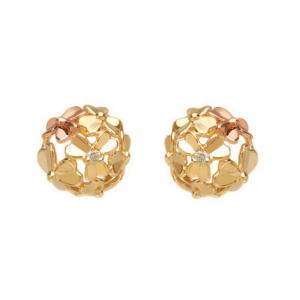 House of Lor 9ct Gold Diamond Set Love Shamrock Earrings H30080