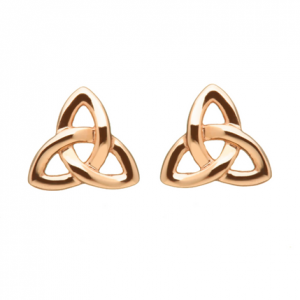 House Of Lor Irish Rose Gold Trinity Stud Earrings H30020