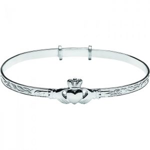 Ladies Claddagh Bangle