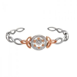 Claddagh & Shamrock Bangle