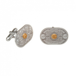 House of Lor Cuff Links with Rare Irish Gold Bosses H10003