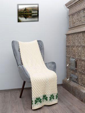 Super Soft Irish Shamrock Merino Wool Throw