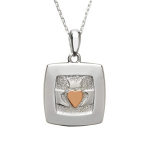 House of Lor Square Claddagh Pendant H40042
