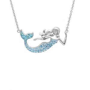 Blue Mermaid Necklace with Aqua Swarovski® Crystals OC186
