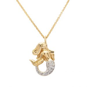 Mermaid Necklace in 14k Gold & Diamond OC222G