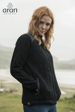 Aran Country Life Ladies Full Zip Sweater