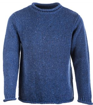 Aran Blue Fisherman Sweater